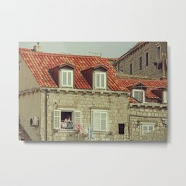 Laundry time in Dubrovnik - Fine Arts Travel Photography Metal Print