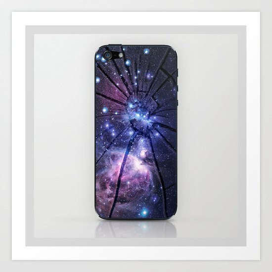 Broken Galaxy Art Print