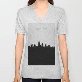 City Skylines: Cleveland Unisex V-Neck