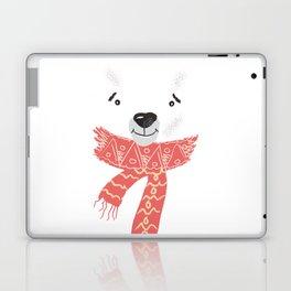 Christmas cute bear. Winter design illustration Laptop & iPad Skin