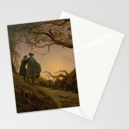 Two Men Contemplating the Moon (1825) Stationery Cards