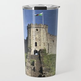 Cardiff Castle Keep-Wales UK Travel Mug