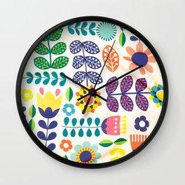 Swedish Folk Art Design III Wall Clock