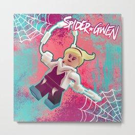 Brick Spider-Gwen Metal Print
