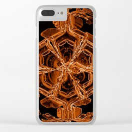 Orange Sexy Snow Clear iPhone Case