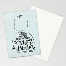 The Birds - Alfred Hitchcock Movie Poster Stationery Cards