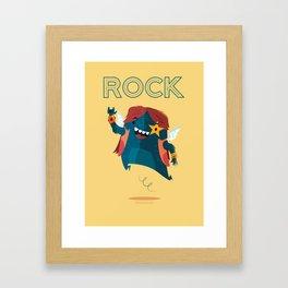:::Rock Monster::: Framed Art Print