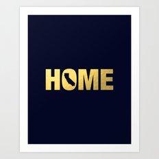California home state faux gold foil print Art Print