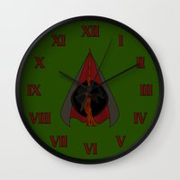 deathly hallows Wall Clocks featuring Deathly Hallows by Nana Leonti