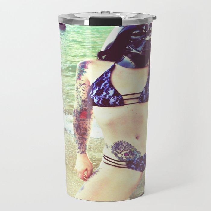 Darth Harmony's Summer Vacation Travel Mug