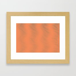 Shower Curtain Framed Art Print