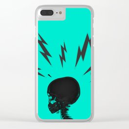 Brain Zaps - Blue Clear iPhone Case