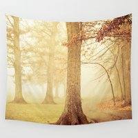 fairies Wall Tapestries featuring I Heard Whispering in the Woods by Olivia Joy StClaire