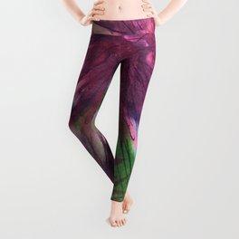 Purple Thistle Growing Leggings