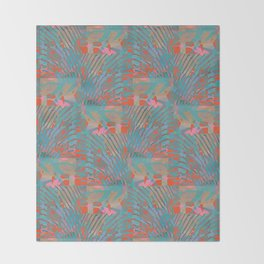 Coral Tides Throw Blanket