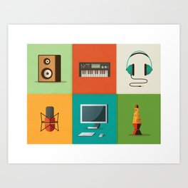 In Tha Studio Art Print