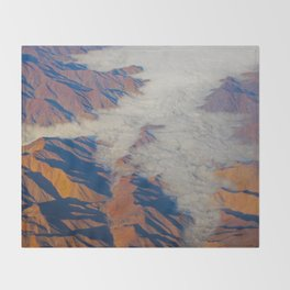 Misty Mountains Throw Blanket