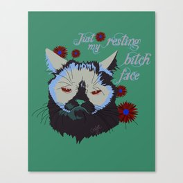 Resting Cat Face Canvas Print