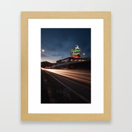 Golden Burnside - Portland, Oregon Framed Art Print
