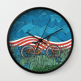 Independence Day Bike Wall Clock