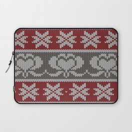 Ugly knitted Hearts Laptop Sleeve