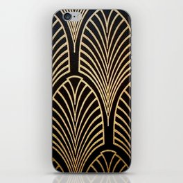 Art nouveau Black,bronze,gold,art deco,vintage,elegant,chic,belle époque iPhone Skin