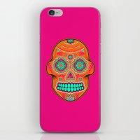 sugar skull iPhone & iPod Skins featuring Sugar Skull by Good Sense