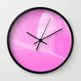 Banana Leaves Pseudo Risograph Wall Clock