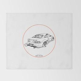 Crazy Car Art 0205 Throw Blanket
