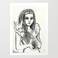 Here's my Heart Art Print