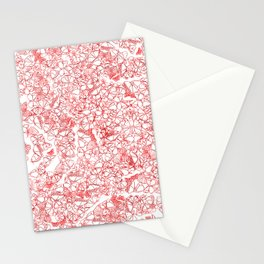 Red butterflies Stationery Cards