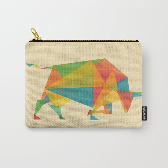 Fractal Geometric Bull Carry-All Pouch