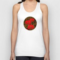 poppies Tank Tops featuring Poppies by pinopics