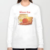breakfast club Long Sleeve T-shirts featuring The Breakfast Club by According to Devin