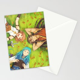 Autumn's Journey - on the grass Stationery Cards