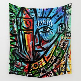 Elon - Abstract Expressionism Wall Tapestry