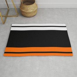 Team Colors 9...Black , white  and orange Rug