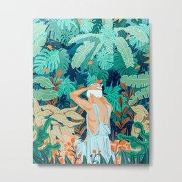 Backyard #illustration #painting Metal Print