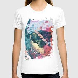 Taos: A vibrant abstract mixed-media painting in various colors by Alyssa Hamilton Art T-shirt