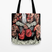boxer Tote Bags featuring Boxer by Ricca Design Co.