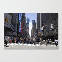 New York City Street Crossing Canvas Print