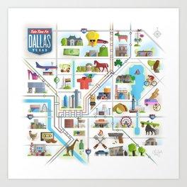Take Time For Dallas Art Print