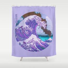 Great Wave Off Kanagawa Mount Fuji Eruption Shower Curtain