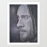 jared leto Art Prints featuring Jared Leto by Jenn