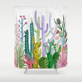 Succulent Happy Garden Shower Curtain