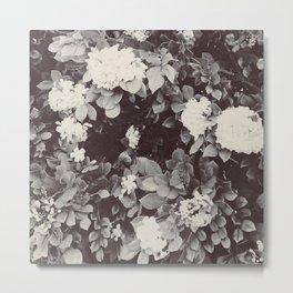 B&W FLOWERS Metal Print