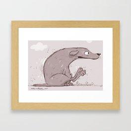 Itchy Dog Framed Art Print