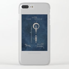 Electric lamp Edison patent art Clear iPhone Case