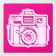 I Still Shoot Film Holga Logo - Reversed Pink Canvas Print