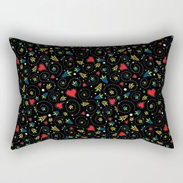 Good Luck Rooster - Just Pattern Rectangular Pillow